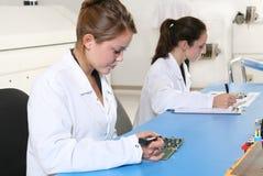 技术人员妇女 免版税图库摄影