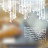 技术企业概念背景 免版税库存图片
