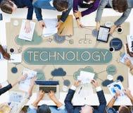 技术全球性通信连接全球化概念 免版税库存图片