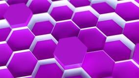 技术六角形样式背景 库存例证