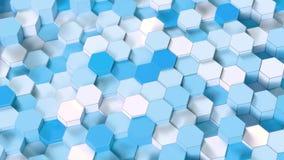 技术六角形样式背景 皇族释放例证