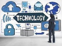 技术创新数字式演变概念 免版税库存照片