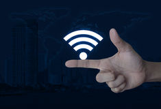 技术和互联网概念,这图象furnishe的元素 免版税库存照片