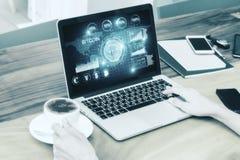 技术和数字式银行业务概念 免版税库存图片
