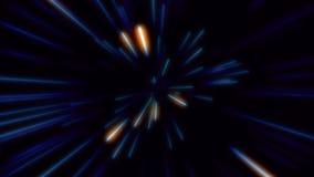 技术和通信背景的摘要创造性的光速蓝色背景 蓝色光,霓虹发光的光芒的速度 影视素材