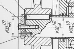 技术图画计划  免版税库存照片