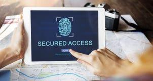 技术安全指纹密码概念 免版税库存图片