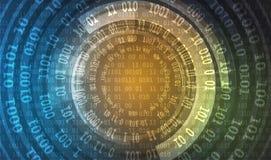 技术安全概念 现代安全数字式背景 皇族释放例证