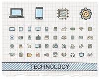 技术手图画线象 库存图片