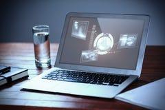 技术接口的综合图象 免版税库存照片