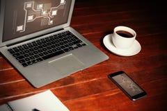 技术接口的综合图象 免版税库存图片