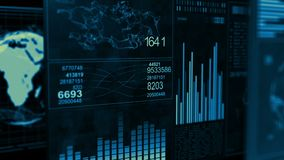 技术接口计算机数据屏幕GUI 皇族释放例证