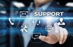技术支持中心顾客服务互联网企业技术概念 免版税图库摄影