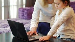 技术教育儿童用途膝上型计算机育儿 股票视频