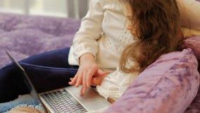 技术教育儿童用途膝上型计算机触感衰减器 股票录像