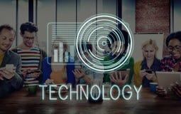 技术数字式创新未来派先进的概念 免版税图库摄影