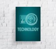 技术数字式创新未来派先进的概念 免版税库存图片