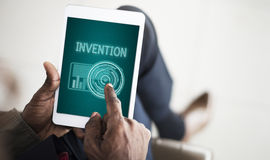 技术数字式创新未来派先进的概念 库存图片