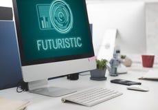 技术数字式创新未来派先进的概念 库存照片