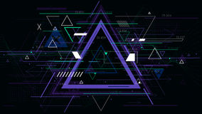 技术未来派抽象三角几何背景,科学幻想小说传染媒介例证 图库摄影