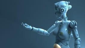 技术机器人sÑ  i fi机器人 皇族释放例证