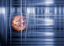 技术栅格和地球 免版税库存照片