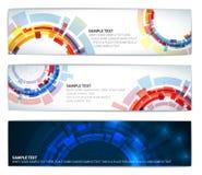 技术横幅五颜六色的集 库存图片