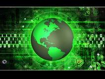 技术的地球 免版税库存照片