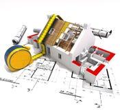 技术的建筑 免版税库存图片