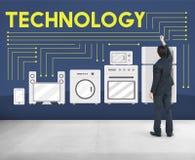 技术科学演变创新先进的概念 免版税库存图片