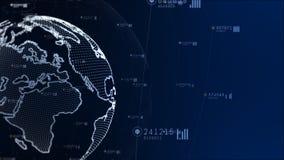 技术网络和数据连接 美国航空航天局装备的地球元素 免版税库存照片