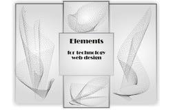 技术网络设计的元素 向量例证