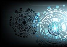 技术背景传染媒介以图例解释者设计 免版税图库摄影