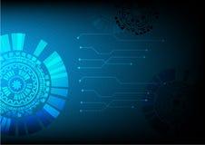 技术背景传染媒介以图例解释者设计 免版税库存图片