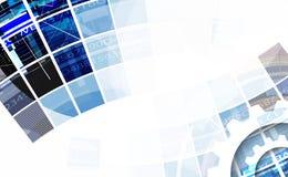 技术背景,全球企业解答想法  免版税库存图片