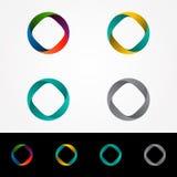 技术轨道网圆环商标设计 库存图片