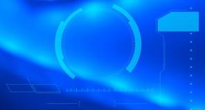 技术高科技蓝色抽象背景 免版税库存照片