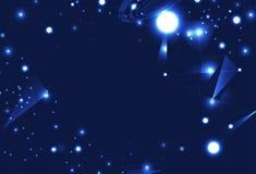 技术,发光与三角未来派科学的微粒 皇族释放例证