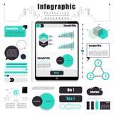技术infographics元素概念 传染媒介例证EPS 免版税图库摄影