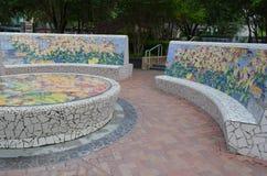 把五颜六色的公园换下场 免版税库存图片