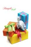 把五颜六色的礼品装箱 库存图片