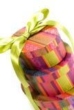 把五颜六色的礼品金字塔装箱 库存图片