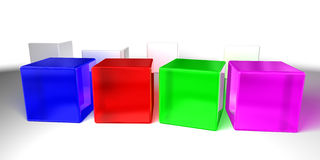 把五颜六色装箱 库存图片