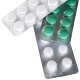 把医学药片装箱 免版税库存照片