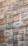 把古巴木的哈瓦那装箱 免版税库存照片
