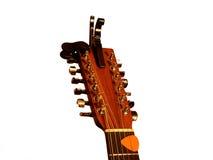 12把吉他字符串 免版税库存图片