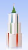 把圣诞节毛皮礼品三结构树装箱 向量例证