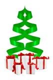 把圣诞节礼品结构树装箱 库存照片