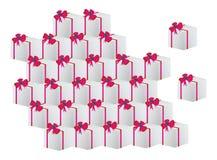 把圣诞节礼品装箱 库存例证