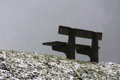 把在木树冬天和雾14的空位换下场 库存图片